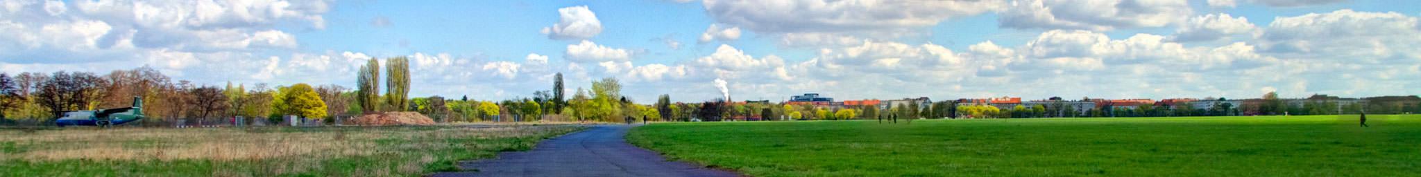Panorama vom Tempelhofer Feld
